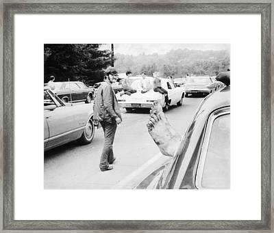 Relaxing At Woodstock Framed Print by Three Lions