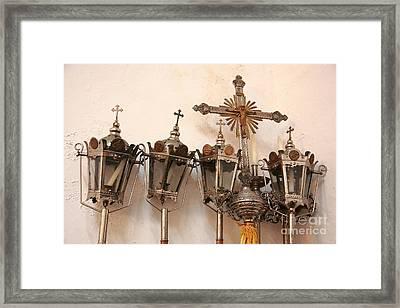 Religious Artifacts Framed Print by Gaspar Avila