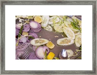 Remains Of A Salad After A Hearty Meal Framed Print by Ashish Agarwal