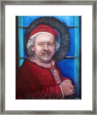 Rembrandt Santa Framed Print by Tom Roderick