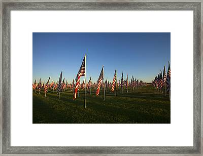 Remember 911 Framed Print by Mike  Dawson