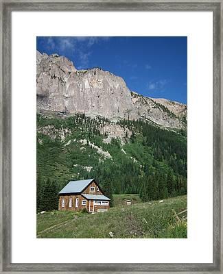 Remote Cabin Framed Print by Linda Koester
