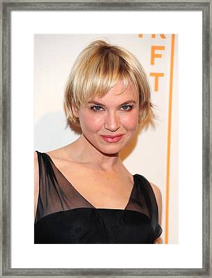 Renee Zellweger At Arrivals For 2010 Framed Print by Everett