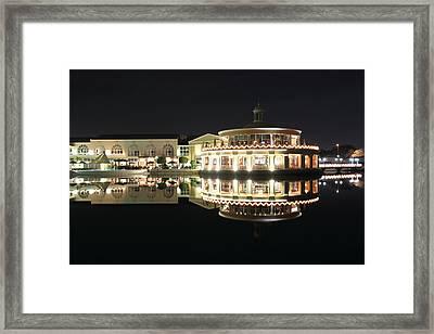 Restaurant And Bar Near Lake Framed Print by Radoslav Nedelchev