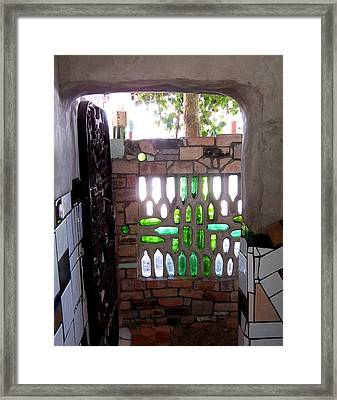 Restroom Entrance Framed Print by Peter Mooyman