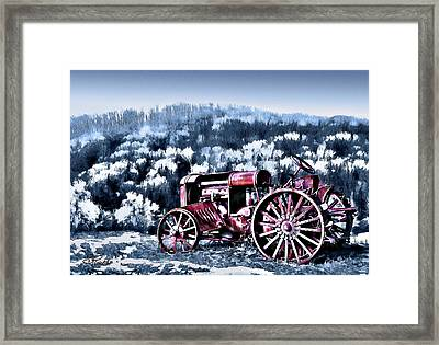 Retired Tractor Framed Print by Suni Roveto