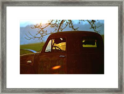 Retirement For An Old Truck Framed Print by Jean Noren