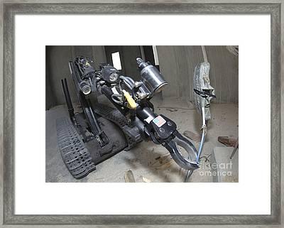 Retractable Arm Of Talon 3b Robot Framed Print by Stocktrek Images