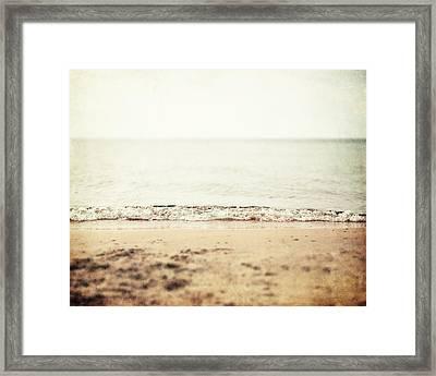 Retro Beach Framed Print by Lisa Russo