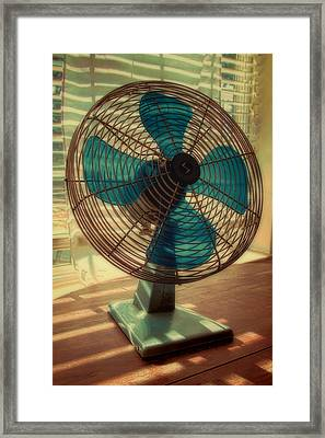 Retro Fan Framed Print by Tony Grider