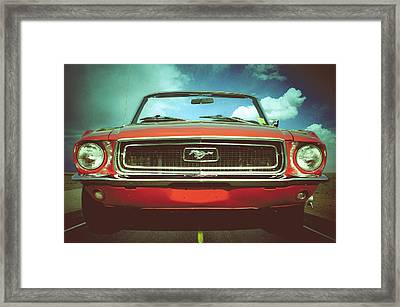 Retro Riding In Style Framed Print by Gary Adkins
