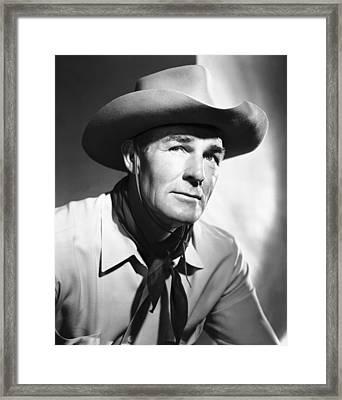 Return Of The Bad Men, Randolph Scott Framed Print by Everett