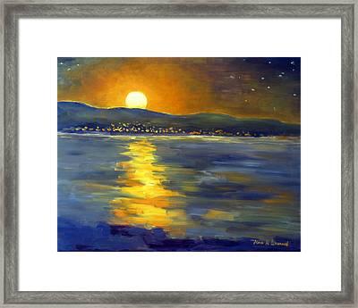 Return Of The Light Framed Print by Karin  Leonard