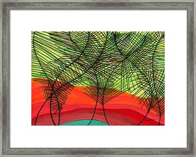 Reunion Framed Print by Lesa Weller
