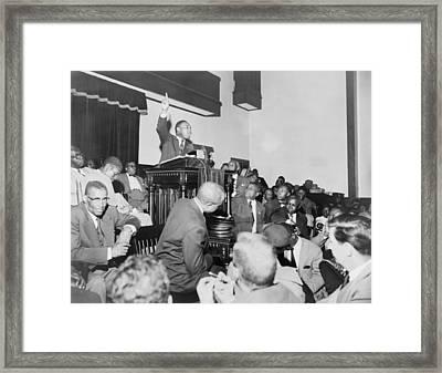 Rev. Martin Luther King, Jr., Speaking Framed Print by Everett