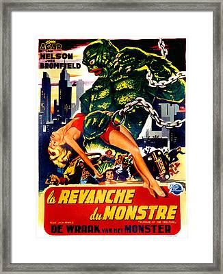 Revenge Of The Creature, Aka La Framed Print by Everett