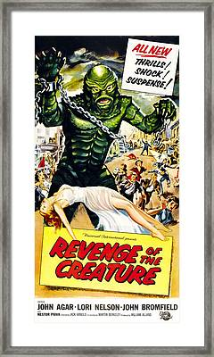 Revenge Of The Creature, As The Gill Framed Print by Everett