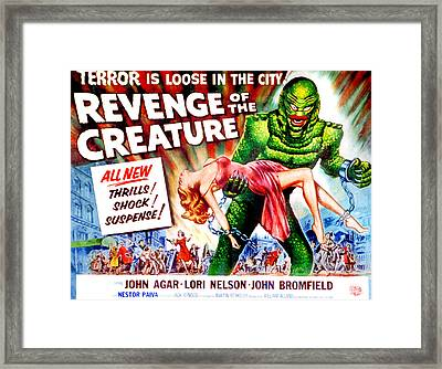Revenge Of The Creature, Lori Nelson Framed Print by Everett