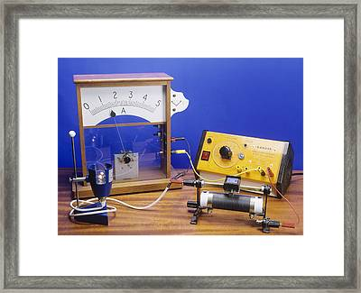 Rheostat Controlling Current Framed Print by Andrew Lambert Photography