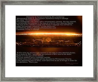 Rhinos Moon Framed Print by Phillip H George