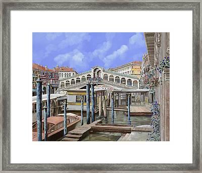 Rialto Dal Lato Opposto Framed Print by Guido Borelli