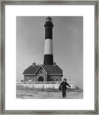 Richard Mahler, Is The Fire Island Framed Print by Everett