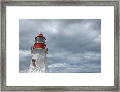 Riche Lighthouse, Port Au Choix Framed Print by Robert Postma