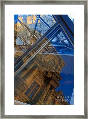 Richelieu Wing Of The Louvre Framed Print by Louise Heusinkveld