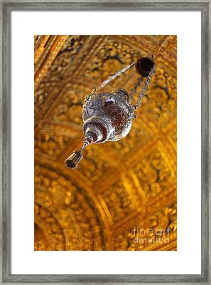 Richly Decorated Ceiling Framed Print by Gaspar Avila
