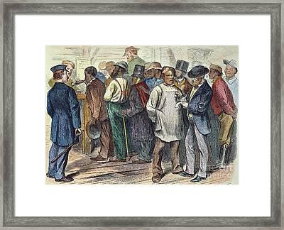 Richmond: Voters, 1870 Framed Print by Granger