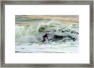 Riding In Beauty Framed Print by Karen Wiles