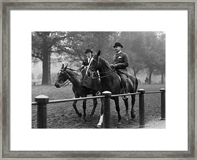 Riding In Hyde Park Framed Print by Hulton Collection