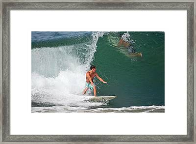 Riding It Out Framed Print by Fraida Gutovich