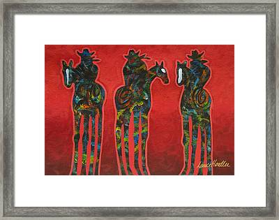 Riding Red Framed Print by Lance Headlee