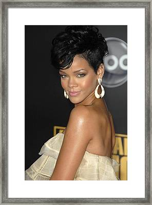 Rihanna At Arrivals For 2008 American Framed Print by Everett