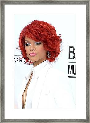 Rihanna At Arrivals For 2011 Billboard Framed Print by Everett