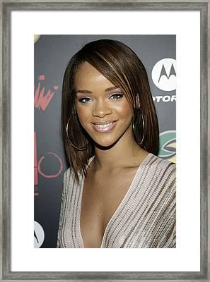 Rihanna At Arrivals For Jay-z Framed Print by Everett