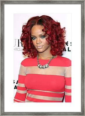 Rihanna In Attendance For Rihanna New Framed Print by Everett