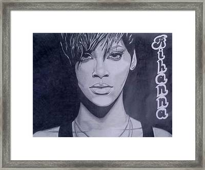 Rihanna Framed Print by Lakeesha Mitchell