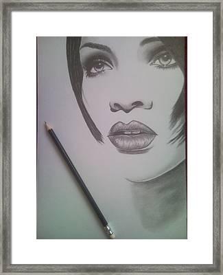 Rihanna Framed Print by Lucia Vratiakova