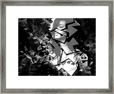 Rihanna Shattered Framed Print by Anibal Diaz