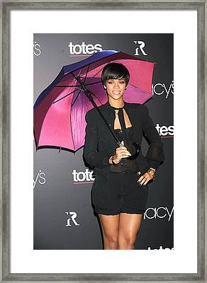 Rihanna Wearing Matthew Williamson Framed Print by Everett