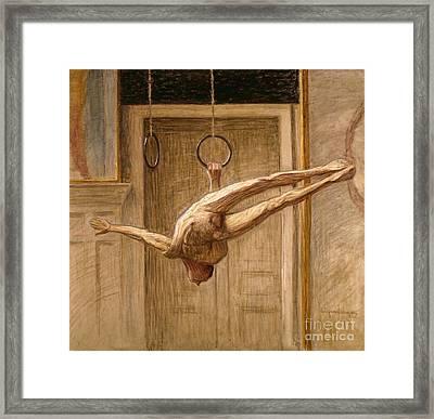 Ring Gymnast No 2 Framed Print by Eugene Jansson