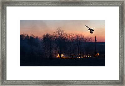 Ring Of Fire. Framed Print by Kelly Nelson