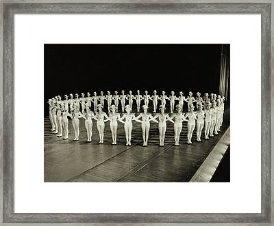 Ring Of Rockettes Framed Print by Archive Holdings Inc.