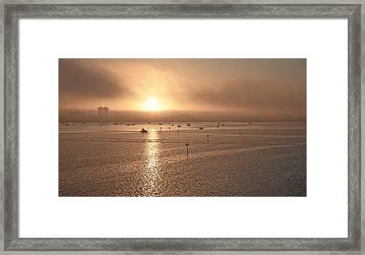 Ringling Bridge Morning Framed Print by Betsy Knapp