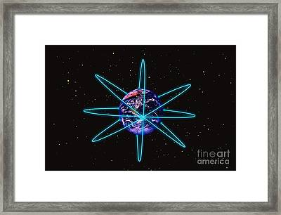 Rings Around The Earth Framed Print by Stocktrek Images