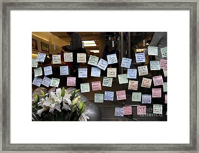 Rip Steve Jobs . October 5 2011 . San Francisco Apple Store Memorial 7dimg8575 Framed Print by Wingsdomain Art and Photography