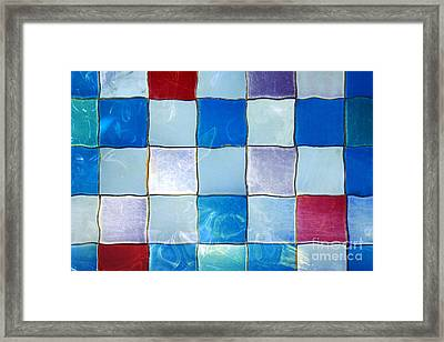 Ripple Tiles Framed Print by Carlos Caetano