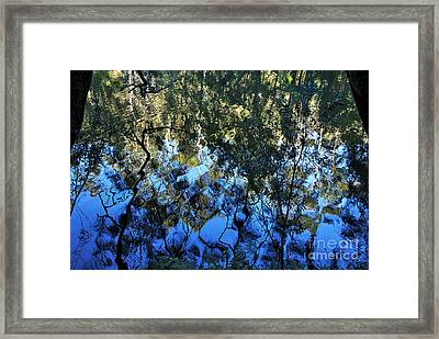 Ripples And Reflections Framed Print by Kaye Menner
